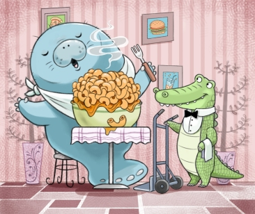 Alligator Waiter color v6 no text