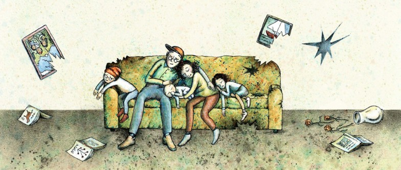 Family on the couch